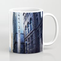 pittsburgh Mugs featuring Pittsburgh street by 100 Watt Photography