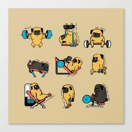 Pug Leg Day Canvas Print