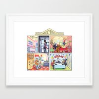 cassia beck Framed Art Prints featuring House of Beck by Hazel Newlevant