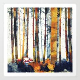 Autumn Hunt Art Print