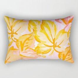 Soft Painterly Pastel Autumn Leaves Rectangular Pillow