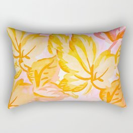 Soft Painterly Pastel Autumn Leaves Rectangular Pillow