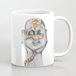 Buddha & The Tiger (Pastel) Coffee Mug