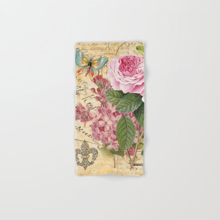 Vintage Flower #23 Hand & Bath Towel