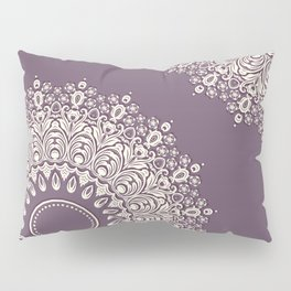 Lace in White on Pale Purple Background Pillow Sham