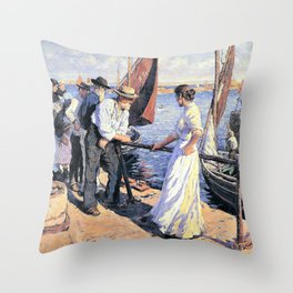 The pier head - Stanhope Alexander Forbes Throw Pillow