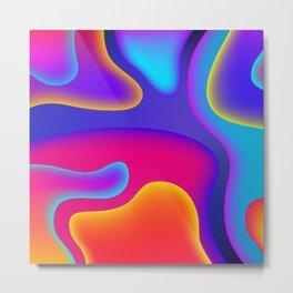 Abstract Wavy Shape Pattern Metal Print