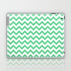 funky chevron mint pattern Laptop & iPad Skin