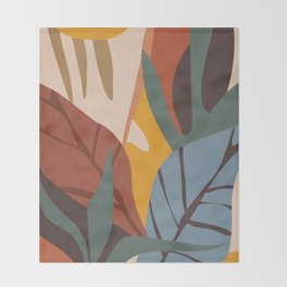 Abstract Art Jungle Throw Blanket