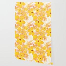 Yellow Flowers, Fractals Art Wallpaper