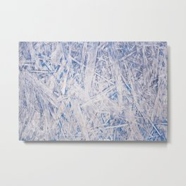 Blue chipboard texture abstract Metal Print