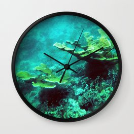 Under the Sea Coral Reef Caribbean Wall Clock