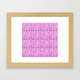 Pink World Framed Art Print