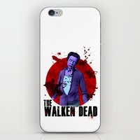 christopher walken iPhone & iPod Skins featuring The Walken Dead – The Walking Dead Parody – Christopher Walken Zombie by ptelling