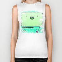 bmo Biker Tanks featuring BMO by Some_Designs