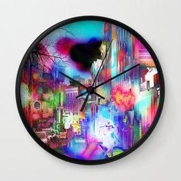 Boston Lights Remix Wall Clock