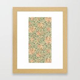 William Morris Honeysuckle Design Framed Art Print