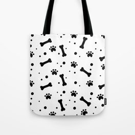 Dog's paw print and bone seamless pattern Tote Bag