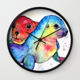 Baby Seals Wall Clock