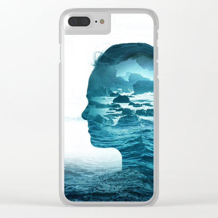 The Sea Inside Me Clear iPhone Case
