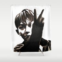 butcher billy Shower Curtains featuring Kes  Billy by taiche