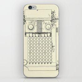 Calculating Machine-1900 iPhone Skin