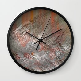 Silver lines Wall Clock