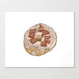 Maple Bacon Doughnut / Donut Canvas Print