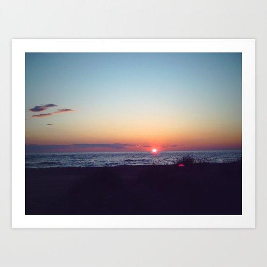 Fantasy Sunset Art Print