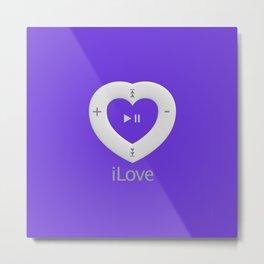 iLove Purple Metal Print