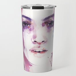 A girl from the other side of the street Travel Mug