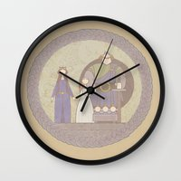 tapestry Wall Clocks featuring tapestry...  by studiomarshallarts