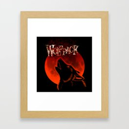 Howling of the wolf Framed Art Print