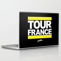 tour de france Laptop & iPad Skins featuring Tour de France by Pedlin