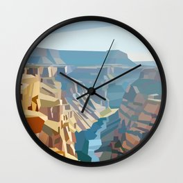 Geometric Grand Canyon National Park, USA Wall Clock