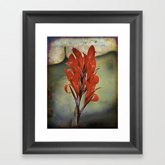 Churchyard Flower Framed Art Print