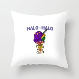 Halo-halo Filipino Popular Dessert With Shaved Ice Cool Design Gift Throw Pillow