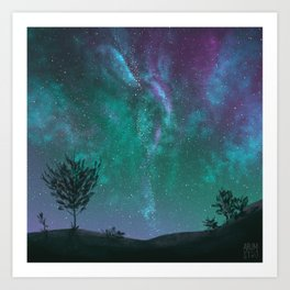 Under The Sky Full Of Stars, I'd Still Stare At You Art Print