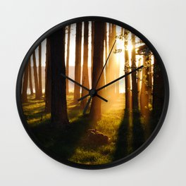 Scenic sunset Wall Clock
