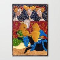 federico babina Canvas Prints featuring L'Epoca di Federico II - La giostra by Francesca Cosanti