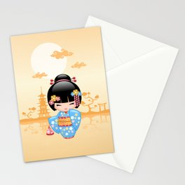 Japanese Maiko Kokeshi Doll Stationery Cards