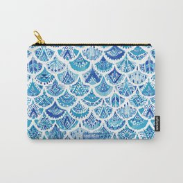AZTEC MERMAID Tribal Scallop Pattern Carry-All Pouch