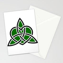 Celtic Valknut Trinity Knot With Interwoven Heart Stationery Cards