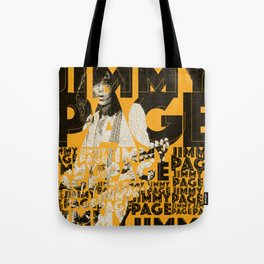 Jimmy Page - Yellow Tote Bag