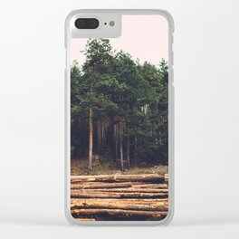 Sad timber industry Clear iPhone Case