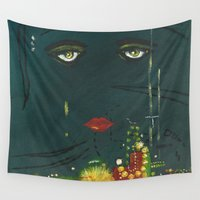 gatsby Wall Tapestries featuring Gatsby by Julia Lopez