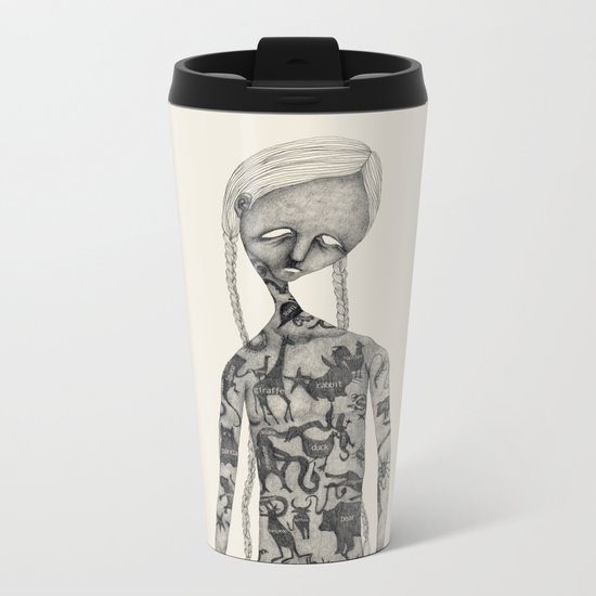 Animal man Metal Travel Mug