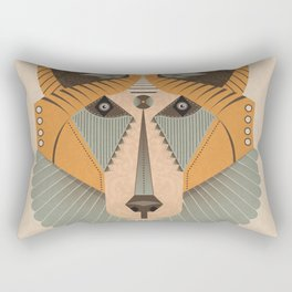 Geometric Fox Design Rectangular Pillow