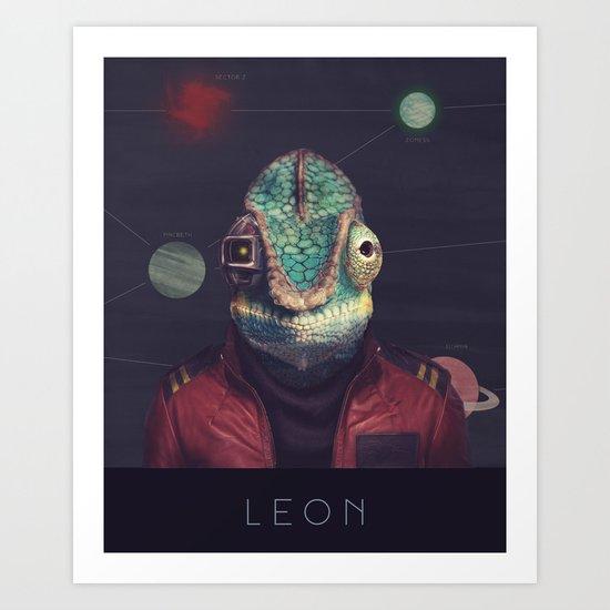 Star Team - Leon Art Print