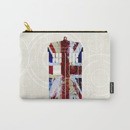 Union Jack TARDIS with Gallifreyan  Carry-All Pouch